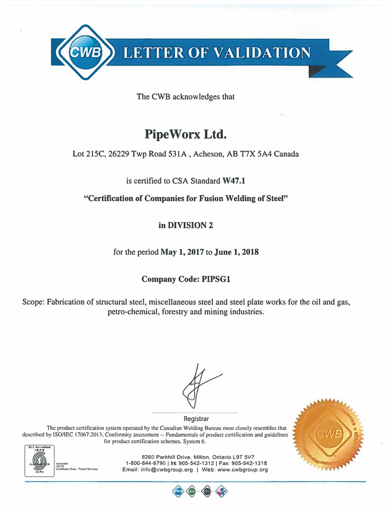 Resources Certifications Pipeworx